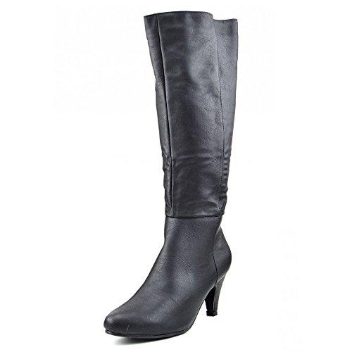 Kick Footwear Womens Black Knee High High Heel Long Shoes Schwarz
