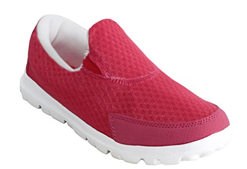 Walk Girls Shoes On White 8 Womens UK Sizes Trainers Footwear Go Pink Pumps Mesh Ladies 3 amp;H Breathable Gym Slip Sports Lightweight A Running xP8qCYTw