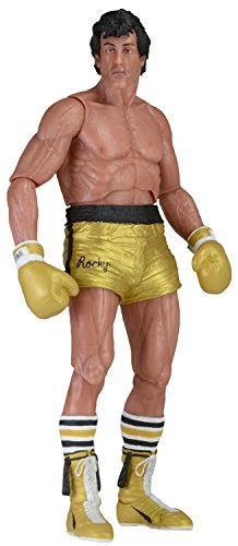 """NECA 40th Anniversary Series 1 Rocky Action Figure (7"""" Scale), Gold"""