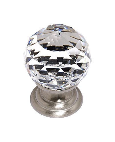 Alno C210-SN Traditional Crystal Knobs, 1-1/4
