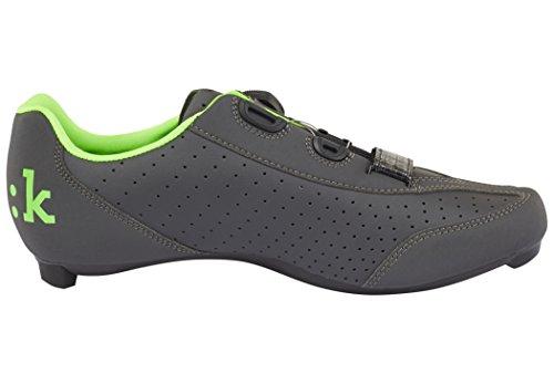 Fizik R3B Rennradschuhe Herren anthrazite/fluo grün Größe 44 2017 Mountainbike-Schuhe