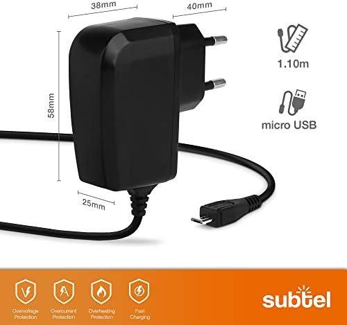Subtel Ladekabel 1 1 M 1a 1000ma Kompatibel Mit Garmin Edge 520 Plus 820 1000 1030 Dashcam