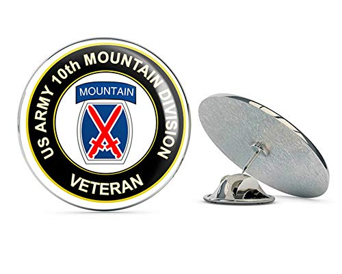 U.S. Army Veteran 10th Mountain Infantry Division Metal 0.75