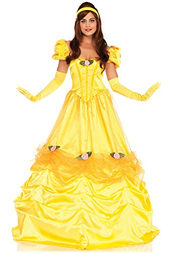 Leg Avenue Women's Belle of The Ball Beauty Costume, Yellow -