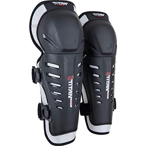 Fox Racing 2014 Youth Titan Race Knee/Shin Guards (Black)