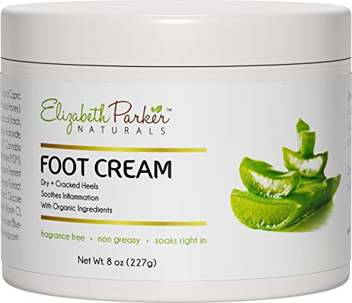 Foot Cream for Dry Cracked Feet and Heels - Anti Fungal Cream for Athletes Foot Treatment - Best Callus Remover for Feet with Shea Butter Aloe Vera & Coconut Oil - Fragrance Free & Non Greasy (8 oz) ()