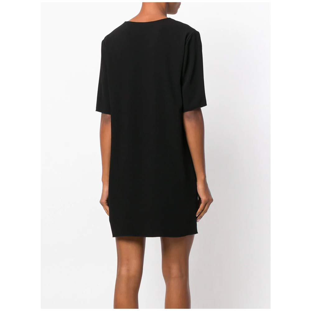 L Theory Womens Roliana Classic Shift Dress Black 4