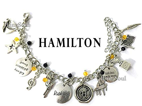 Broadway Musical Hamilton Jewelry - Alexander Charm Bracelet Rise up Friendship Gifts - American Lin-Manuel Miranda Chain Bangle Kids Boys Girls Costumes by BlingSoul
