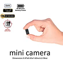 Fuvision Hidden Camera Mini DVR Tinny Size 1080P FHD Body-Worn Camera Recorder Support 90 Minutes Continuous and Motion Detection Recording Camcorder Capture to 128GB Micro SD Card[Not Included]