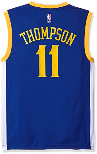 NBA Golden State Warriors Klay Thompson #11 Men's Road Replica Jersey, Large, Blue