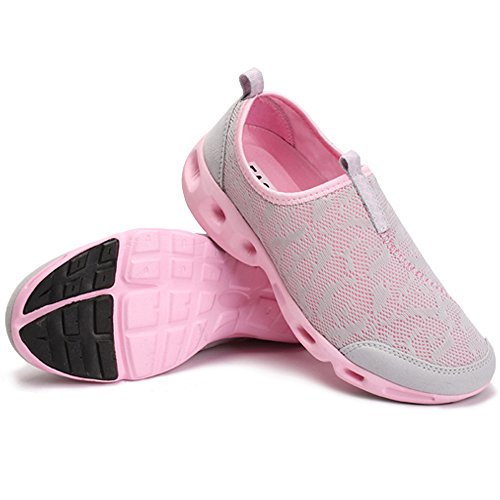 Yuanli Slip Shoes Walking Mesh Gray Women's On H11xWn4c7q