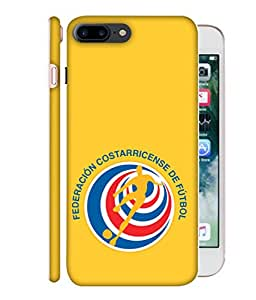ColorKing Football Costa Rica 07 Yellow shell case cover for Apple iphone 7 Plus
