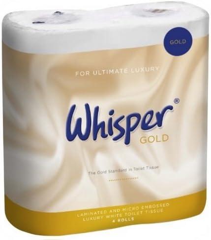 Whisper Gold Luxury Toilet rolls