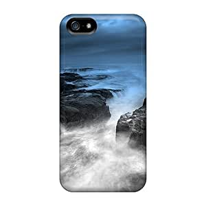 Awesome Rwavrej4735UaEUd Mialisabblake Defender Tpu Hard Case Cover For Iphone 5/5s- Misty Blue