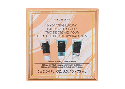 KORRES Korres Hydrating Luxury Hand Cream Trio, 7.6 Fl. Oz.