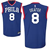 Jahlil Okafor Philadelphia 76ers #8 NBA Youth Road Jersey Blue (Youth Small 8)