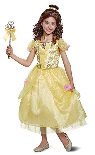 Disguise Belle Deluxe Child Costume, Yellow, Size/(4-6x) -
