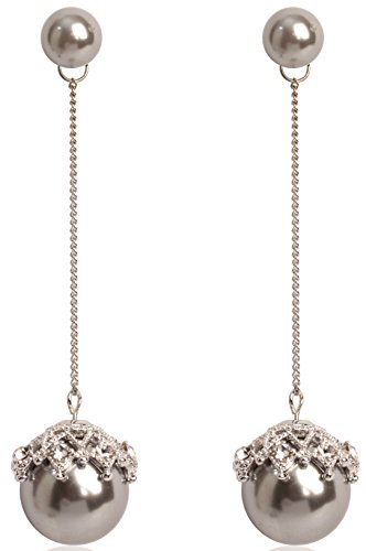 MISASHA Crystal Incrusted Celebrity Designer Bowtie Dangle Earrings For (Chanel Inspired Earrings)