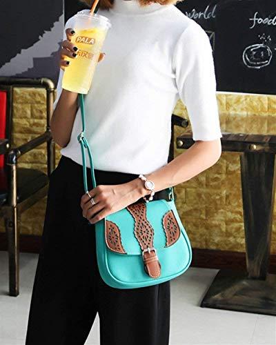 Taille Marron Unique coloré Lake Kaki Femme Retro Taille Taille Unique Blue Clair Sac Cross Boucle Petit bandoulière à Sac Messenger Body Vintage BOx6Z7q