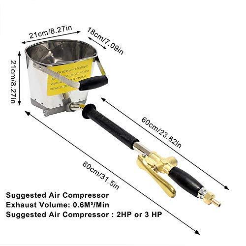 TOPQSC Cemento Mortero Spray Gun Hopper Gun 4 Jet Hopper Yeso Concreto Cement Sprayer Stuck Sprayer para paredes y techos DIY: Amazon.es: Bricolaje y ...