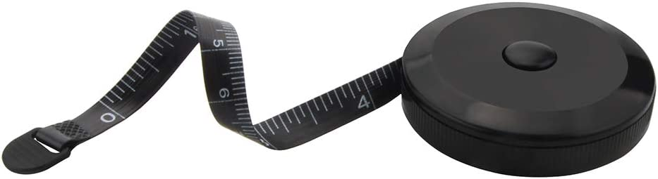 Retractable Dual Sided Black Tape Measure for Body Retractable Measuring Tape for Cloth Measuring Tape for Sewing Tailor Fabric and Crafts Measurements Tape