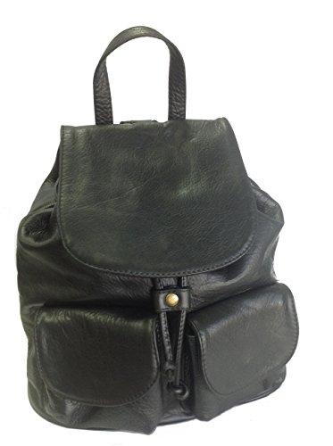 sac à GERMAN cuir dos italien à sac à noir dos ou en sac main PfAWn6BqA