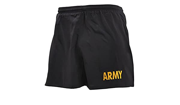 Black /& Gold ARMY Physical Training Shorts Rothco Mens Military PT Shorts