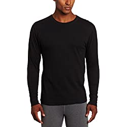 Duofold Men's Mid Weight Wicking Thermal Shirt, Black, X-Large