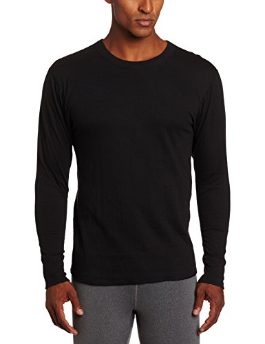 Elite Running Jacket - Duofold Men's Mid Weight Wicking Crew Neck Top, Black, X-Large