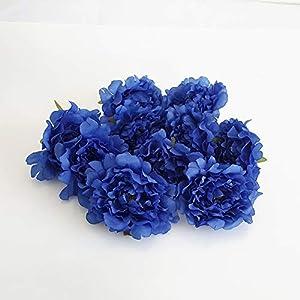 Eternal Blossom 10pcs Artificial Peony Flower, Silk Peony Fake Flower Head Diameter 13cm for Wedding, DIY and House Dressing 108