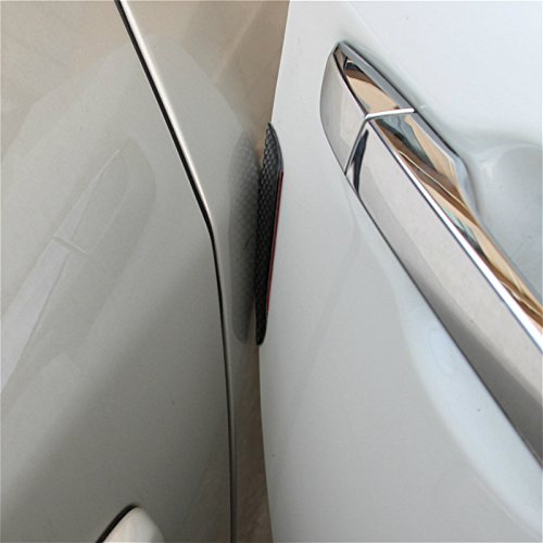 TOOGOO 1set 4pcs Carbon Fiber Door Anti-Collision Strip Car Door Anti-rubbing Door Anti-Collision Tape Body Stickers Black by TOOGOO (Image #1)