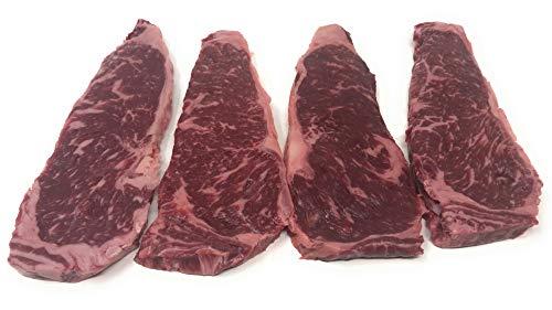 Wagyu American Style Kobe Beef 8 oz. NY Strip Steaks (Count 4)