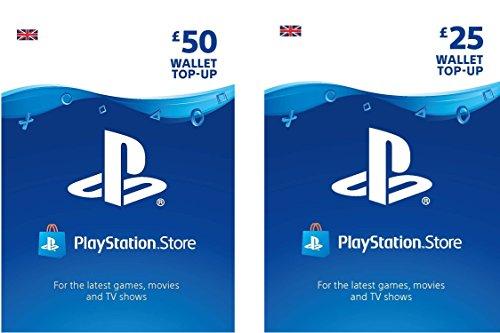 PlayStation PSN Card 75 GBP Wallet Top Up | PS5/PS4/PS3 | PSN Download Code – UK account