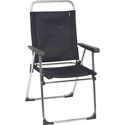 Price comparison product image Lafuma Victoria Aluminum Folding Chair with Adjustable Back - Alu brut Frame with Acier Air Shell Fabric