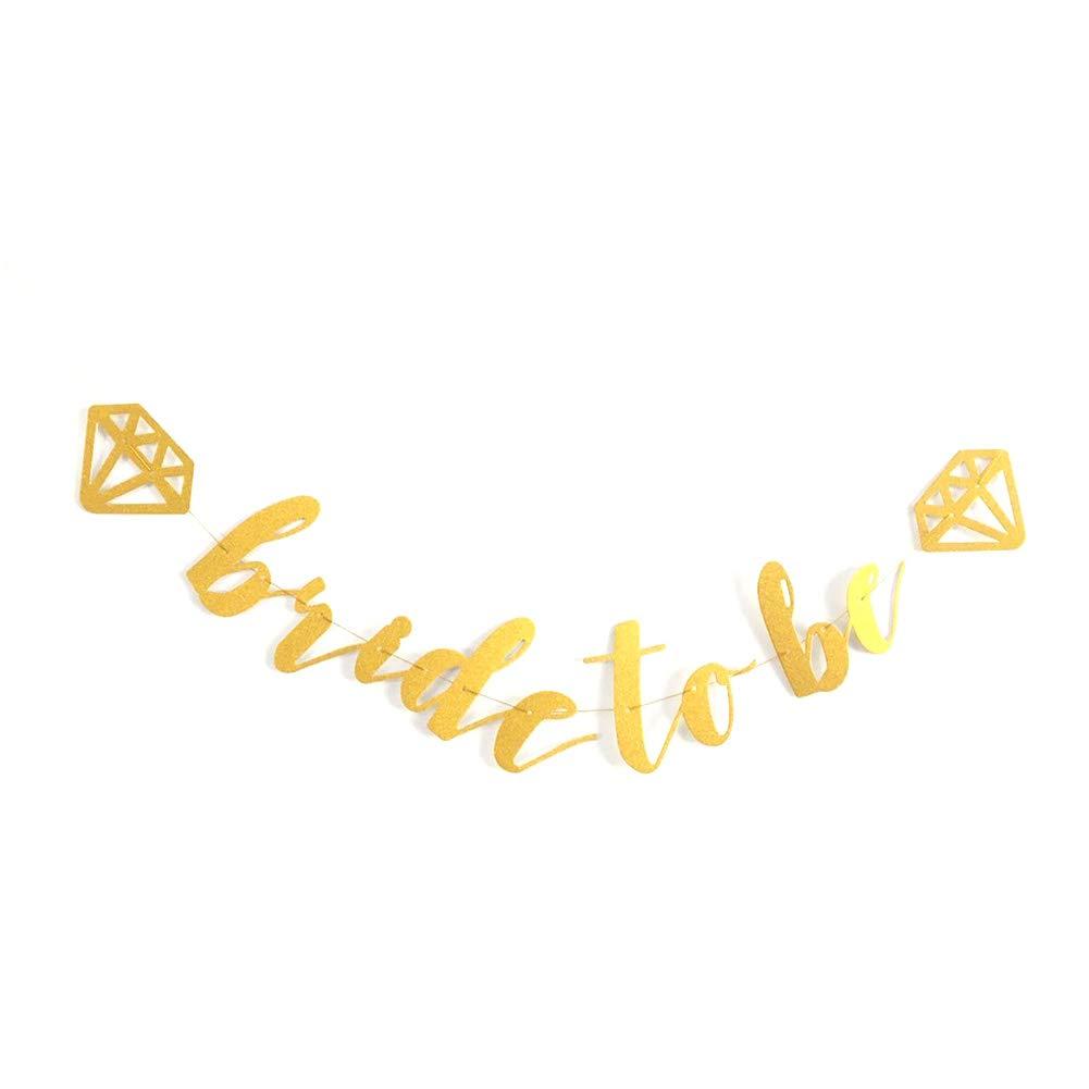 Diamantring Ros/égold Hosaire 1x Hochzeits Banner Brautdusche Bride to BE Foto Requisiten Party Bunting Banner Glitter Banner,3M