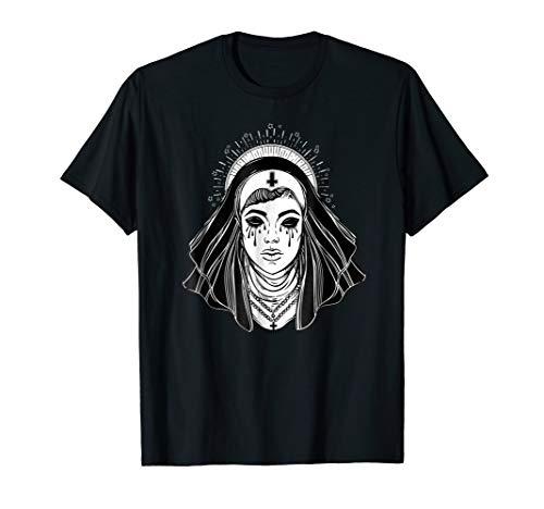 Black Religion Goth Sister TShirt - Evil Goth Cross Tattoo