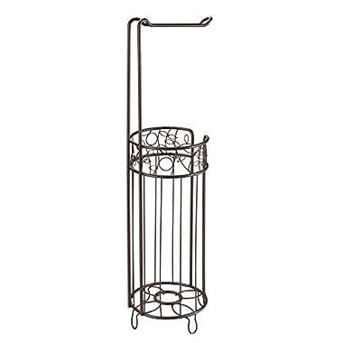InterDesign Twigz Toilet Tissue Roll Stand Plus, Bronze