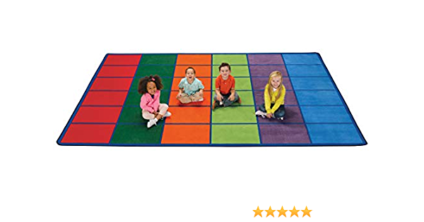 Amazon Com Carpets For Kids 4034 Colorful Seating Rows Kids Rug 8ft 4in X 13ft 4in Industrial Scientific