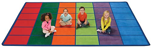Carpets for Kids 4034 Colorful Seating Rows Kids Rug Rug Size: 8'4' x 13'4'