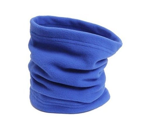Neck Warmer Outdoor Fleece Scarf turtleneck collar men and women winter multifunctional headgear warm mask hat Blue