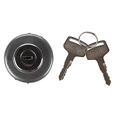 LARBI Ignition Switch With 4 Position 6 Terminal Wire Digger 2 Keys Suit for Kobelco Ford 3400 Kubota International Harvester Mitsubishi Tractor,Trailer,Caterpillar,Agricultura, Plant Applications: Automotive