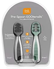 Numnum Pre-Spoon GOOtensils (Set of 2), Glacier Green And Storm Gray, 2 2 count