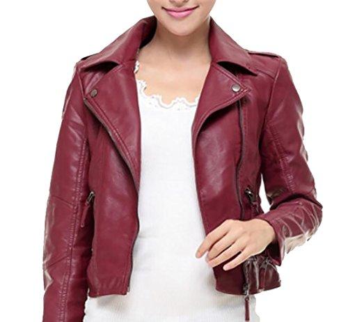Ladies Leather Biker Jacket Sale - 5