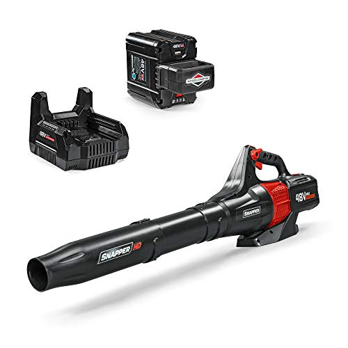 Snapper HD 48V MAX Electric Cordless 450 CFM Leaf Blower Kit with 2.0 Battery and Charger, 1687968, BL48K (Best Lawn Blower 2019)