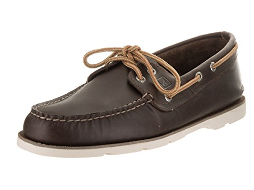 nbsp; Leeward da Brown Sider Dark Uomo Top Barca nbsp;Scarpe Sperry Chambray Creme qfUawEx