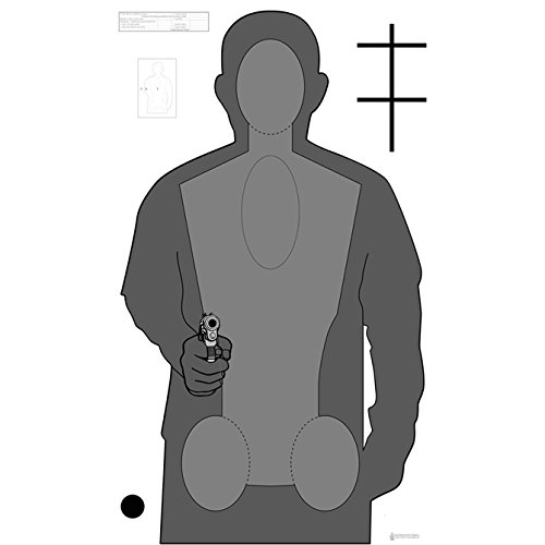 100 Pcs, Ohio Opota-Rqt2 Qualification Target (Version 2) Black & Gray Size: 24