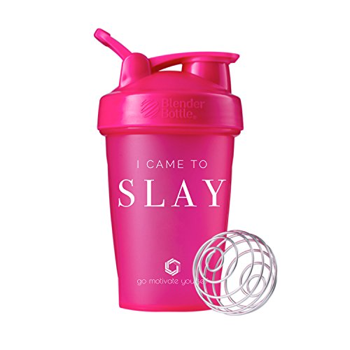 GOMOYO I Came to Slay on BlenderBottle Brand Classic Shaker Cup, 20oz Capacity, Includes BlenderBall Whisk (Pink - 20oz)
