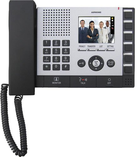 "Aiphone Corporation IS-MV Video Master Station for IS Series Local Hardwired Video Intercom, Flame Resisting ABS Resin, 7-1/2"" x 9-7/8"" x 2-3/8"""