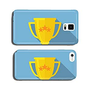 Champions Cup icon vector. Trophy cup flat vector icon cell phone cover case iPhone5