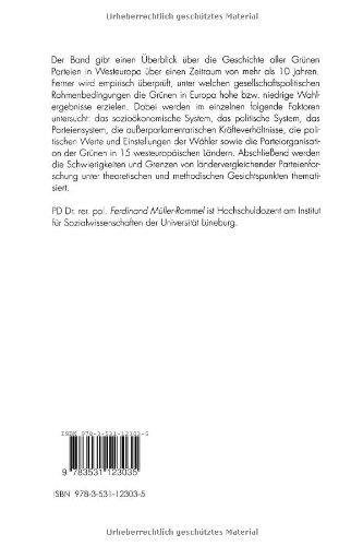 grne parteien in westeuropa mller rommel ferdin and